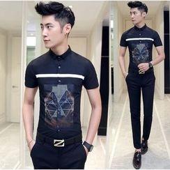 Besto - Print Short Sleeve Shirt