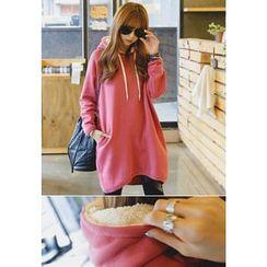 REDOPIN - Fleeced-Line Hooded Pullover