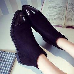 QQ Trend - 帽鞋頭踝靴