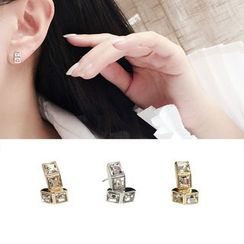 Clair Fashion - Rhinestone Earrings