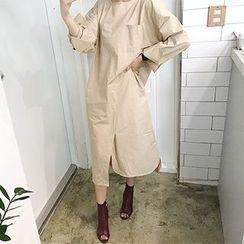 MARSHMALLOW - Maternity Slit-Front Dress