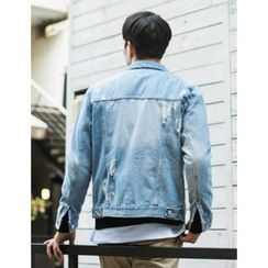 STYLEMAN - Distressed Denim Jacket