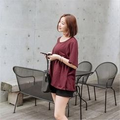 JOAMOM - Round-Neck Short-Sleeve T-Shirt
