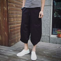 Bay Go Mall - Cropped Wide Leg Pants