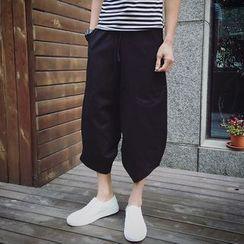 百高 - 八分宽腿裤