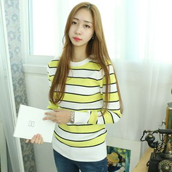 Dodostyle - Color-Block Ribbed Knit Top