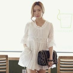 REDOPIN - Lace-Trim Tiered Tunic