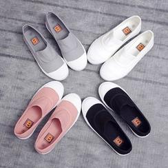 EUNICE - 貝殼頭懶人帆布鞋