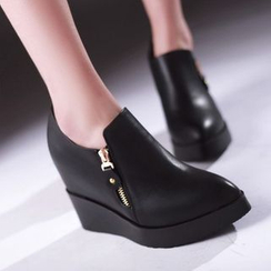 JY Shoes - Wedged Ankle Boots