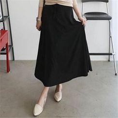 CHICFOX - Band-Waist A-Line Skirt