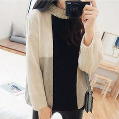 Helena - Cable Knit Color Panel  Sweater