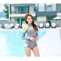 Blue Lagoon - Panel Long-Sleeve 2-piece Swimsuit