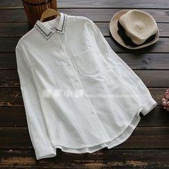 YOYO - 长袖刺绣衬衫