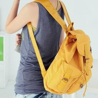 Love Bags - Buckled Canvas Backpack