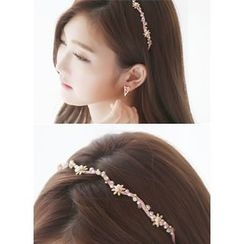 kitsch island - Faux-Pearl Embellished Hair Band