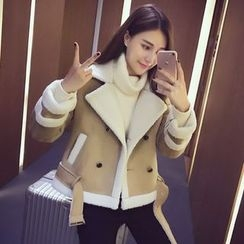 MIUCO - Fleece Lined Double Breasted Jacket
