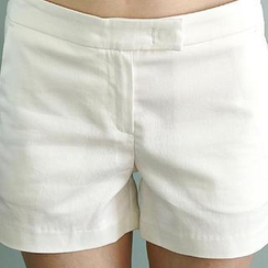 NANING9 - Flat-Front Shorts with Belt