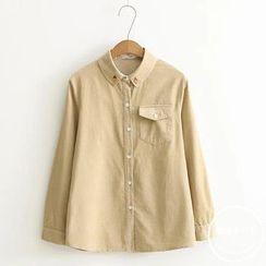 PANDAGO - Embroidered Corduroy Shirt