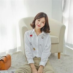 Styleberry - Long-Sleeve Embroidered Shirt