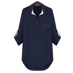 Eloqueen - Chiffon Loose-Fit Shirt