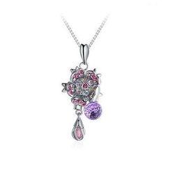 伊泰莲娜 - 施华洛世奇元素水晶樱花项链