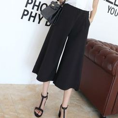 Angel Shine - Cropped Wide Leg Pants
