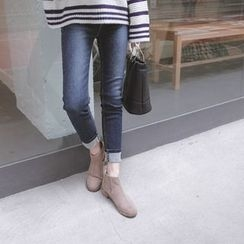 mimi&didi - Brushed-Fleece Lined Skinny Jeans