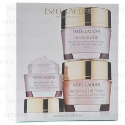 Estee Lauder - Resilience Lift 3-To-Travel Set (Firming/Sculping): Face and Neck Cream 50ml +  Face and Neck Night Cream 50ml + Eye Cream 15ml