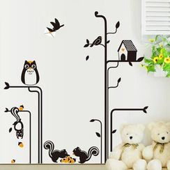 LESIGN - Owl Non-marking Wall Stickers