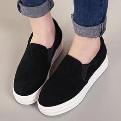 Mancienne - Genuine-Leather Platform Slip-Ons