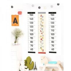 LOML - Printed Wall Ruler Sticker