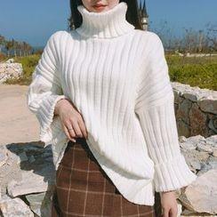 Dute - Turtleneck Ribbed Sweater