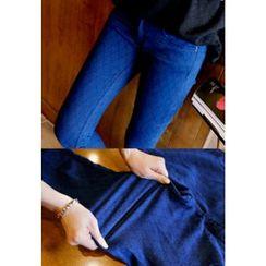 REDOPIN - Diamond Print Skinny Jeans