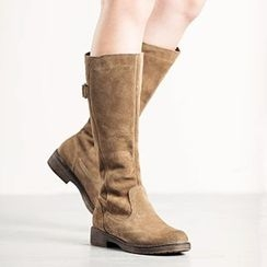 MIAOLV - Faux Suede Tall Boots