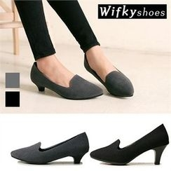 Wifky - Pointy-Toe Textured Pumps