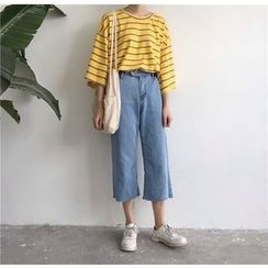 Chililala - Cropped Wide Leg Jeans
