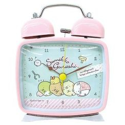 T'S Factory - Sumikko Gurashi Square Twin Bell Clock (Pink)