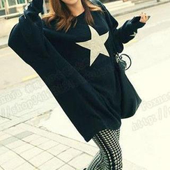 Dream Girl - Star Print Oversized T-Shirt