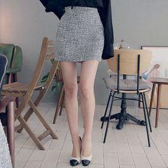 DABAGIRL - Tweed Mini Pencil Skirt