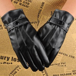 Fow Fow - Faux Leather Touchscreen Gloves