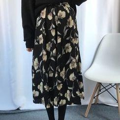 Dute - Floral Midi Skirt