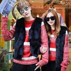 Bay Go Mall - Couple Matching Faux Fur Vest