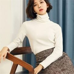 MAGJAY - Turtle-Neck Long-Sleeve Top