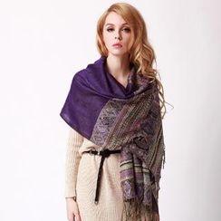 羚羊早安 - 流蘇圖案圍巾