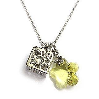 6thJune - 'Dream' - Guarding Angel Necklace with Swarovski Yellow Crystal Flower