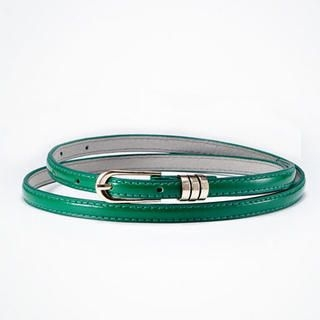 Moonbasa - Ring-Accent Patent Slim Belt
