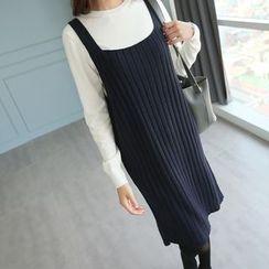 CLICK - Sleeveless Rib-Knit Dress