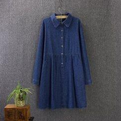 Blue Rose - Denim Shirtdress