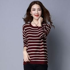 Romantica - Striped Knit Top