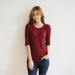 Styleberry - Elbow-Sleeve T-Shirt